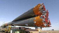 Soyuz launcher roll-out