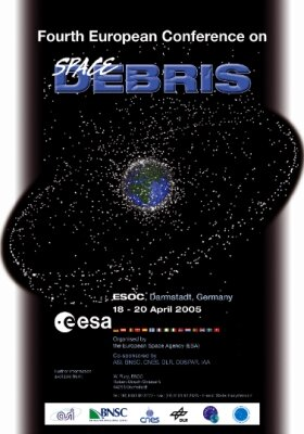 Space debris conference poster