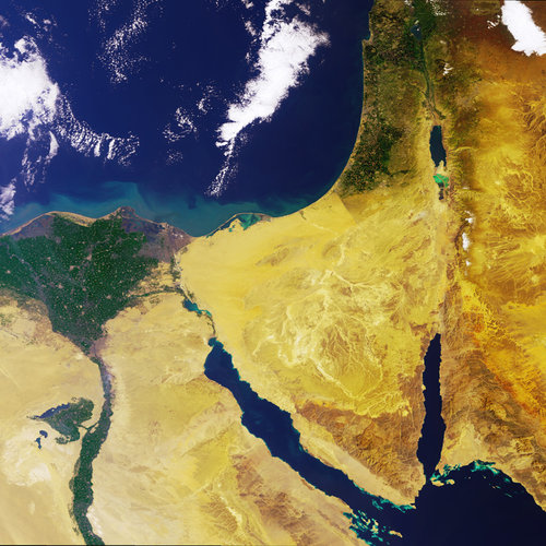 The Nile Delta and the Sinai Peninsula