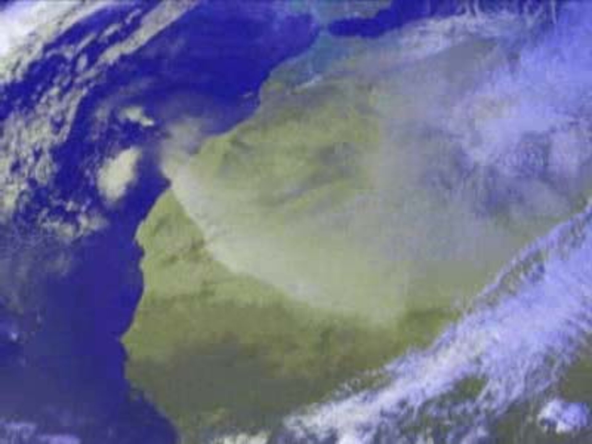 A dust storm as seen by MSG-1