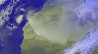 Dust storm moving across Africa