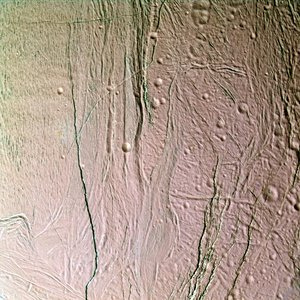 Icy surface of Enceladus