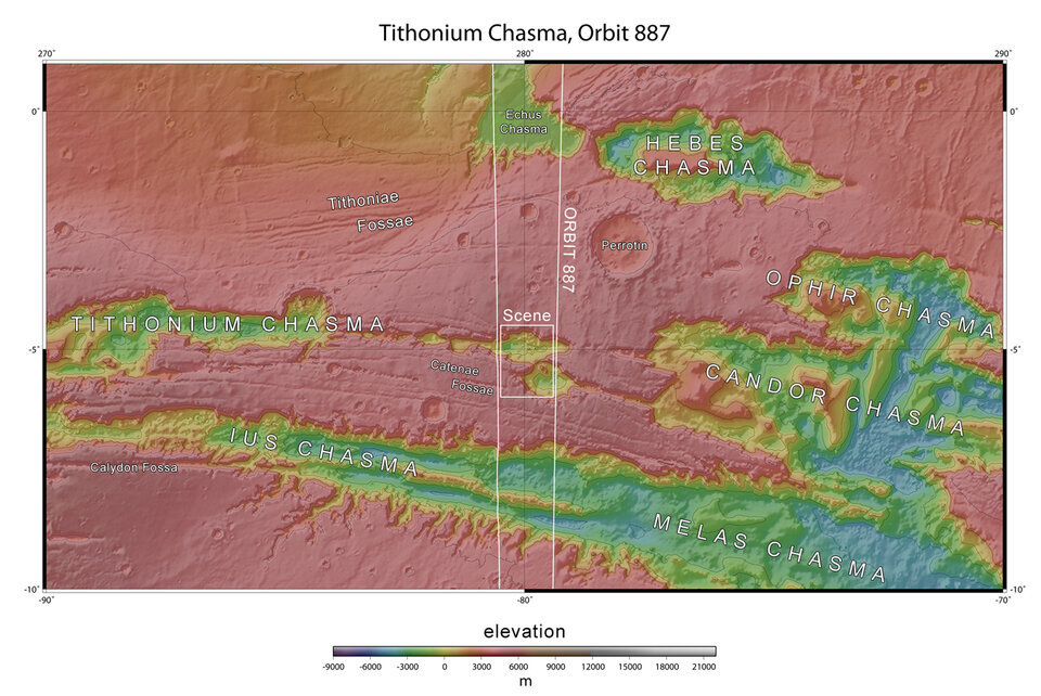 Section of Tithonium Chasma in context