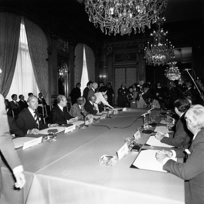 The ESA Convention being signed in Paris on 30 May 1975
