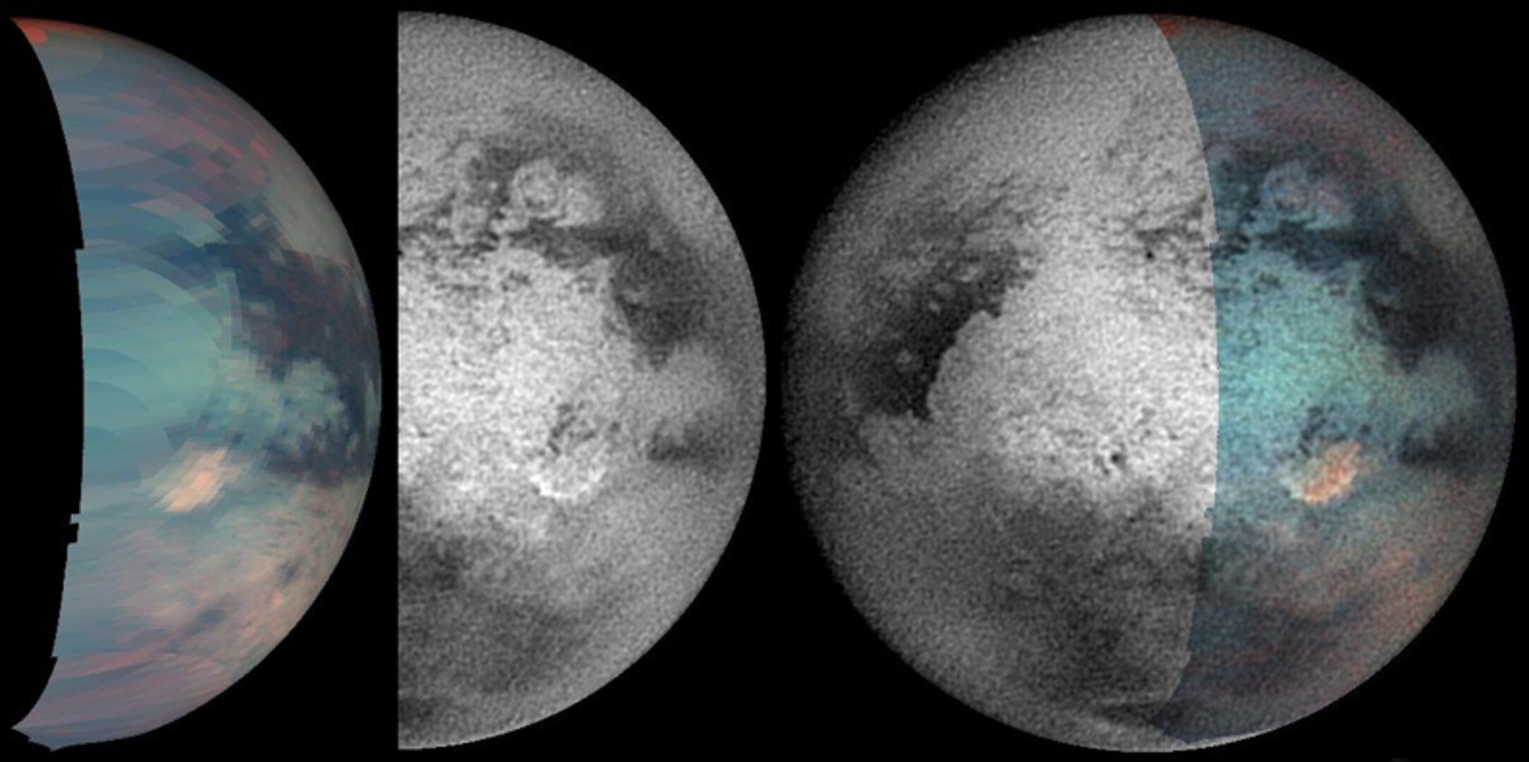 Titan's odd spot observed by different instruments