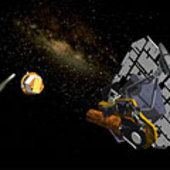 Fly-by spacecraft with impactor
