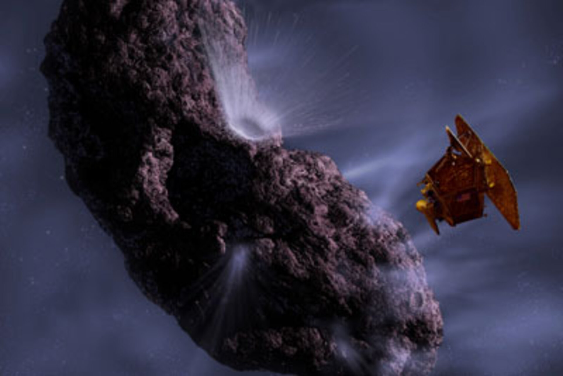 Artist's impression of the Deep Impact collision