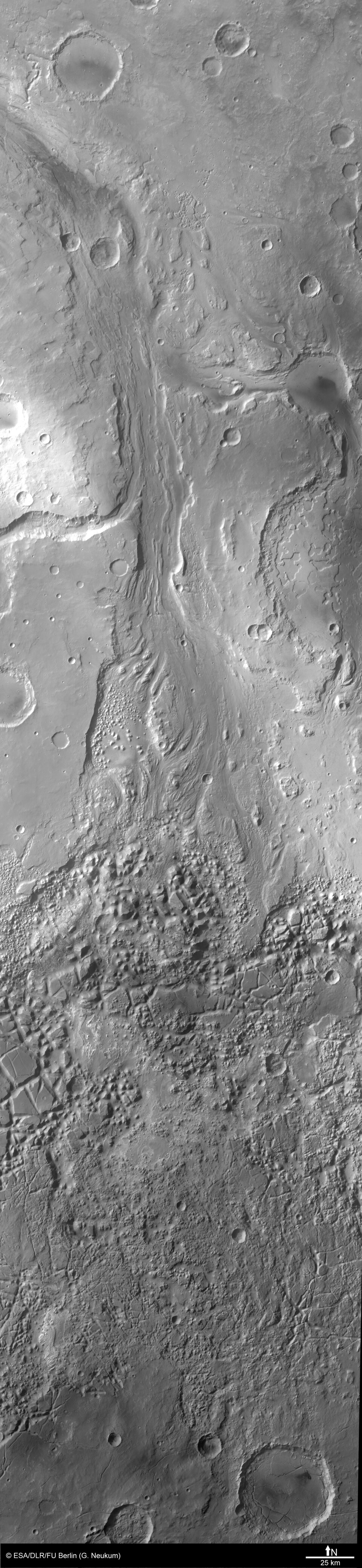 Black and white pan across the region