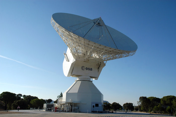 ESA's 35 m-diameter deep-space dish antenna, DSA-2, is located at Cebreros, near Avila, Spain. It is controlled, as part of the Estrack network, from ESOC, the European Space Operations Centre, Darmstadt, Germany.