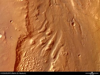 Colour view of Ares Vallis
