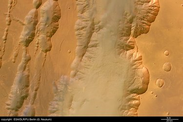 Colour view of Coprates Chasma and Coprates Catena