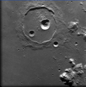 Crater Cassini on the Moon, as seen by SMART-1