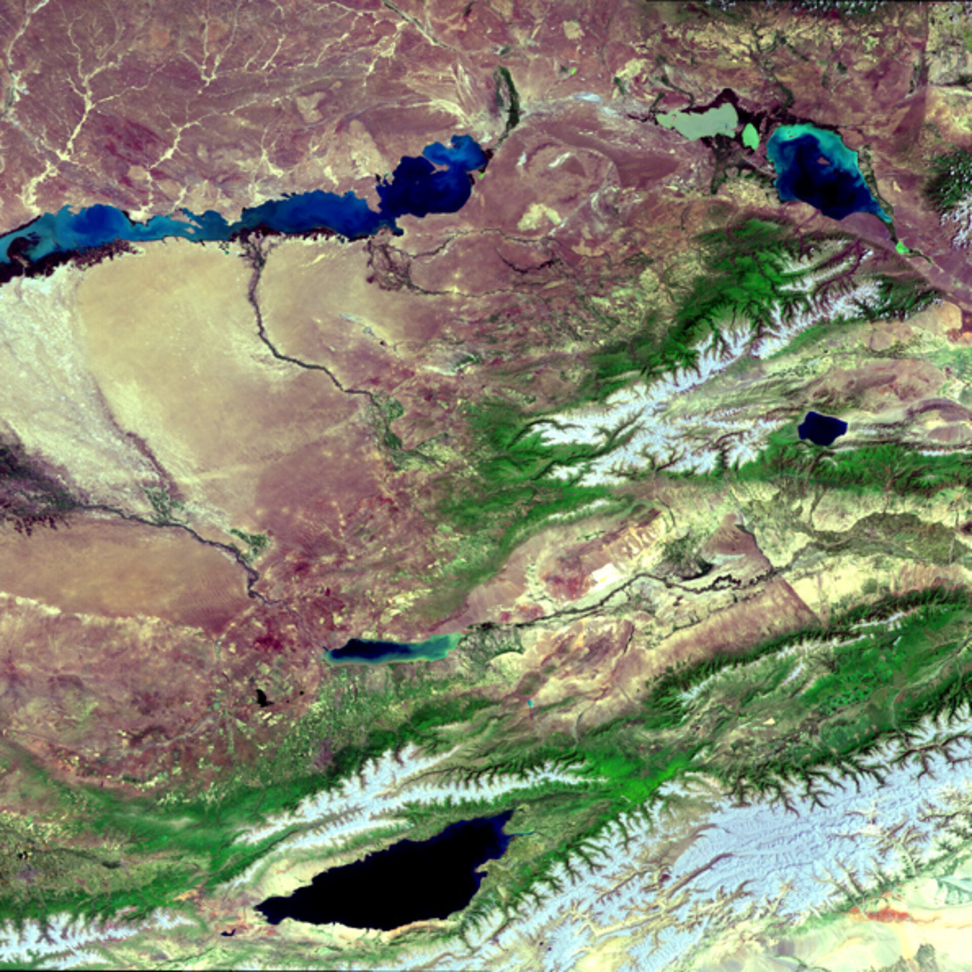 Envisat image of Kazakhstan and Kyrgyzstan