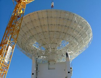 Mounting dish of Cebreros 35m antenna