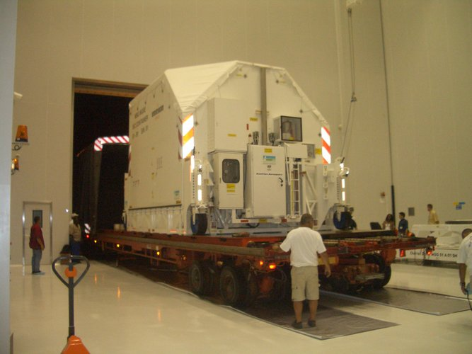 MSG-2 entering the S5-C building