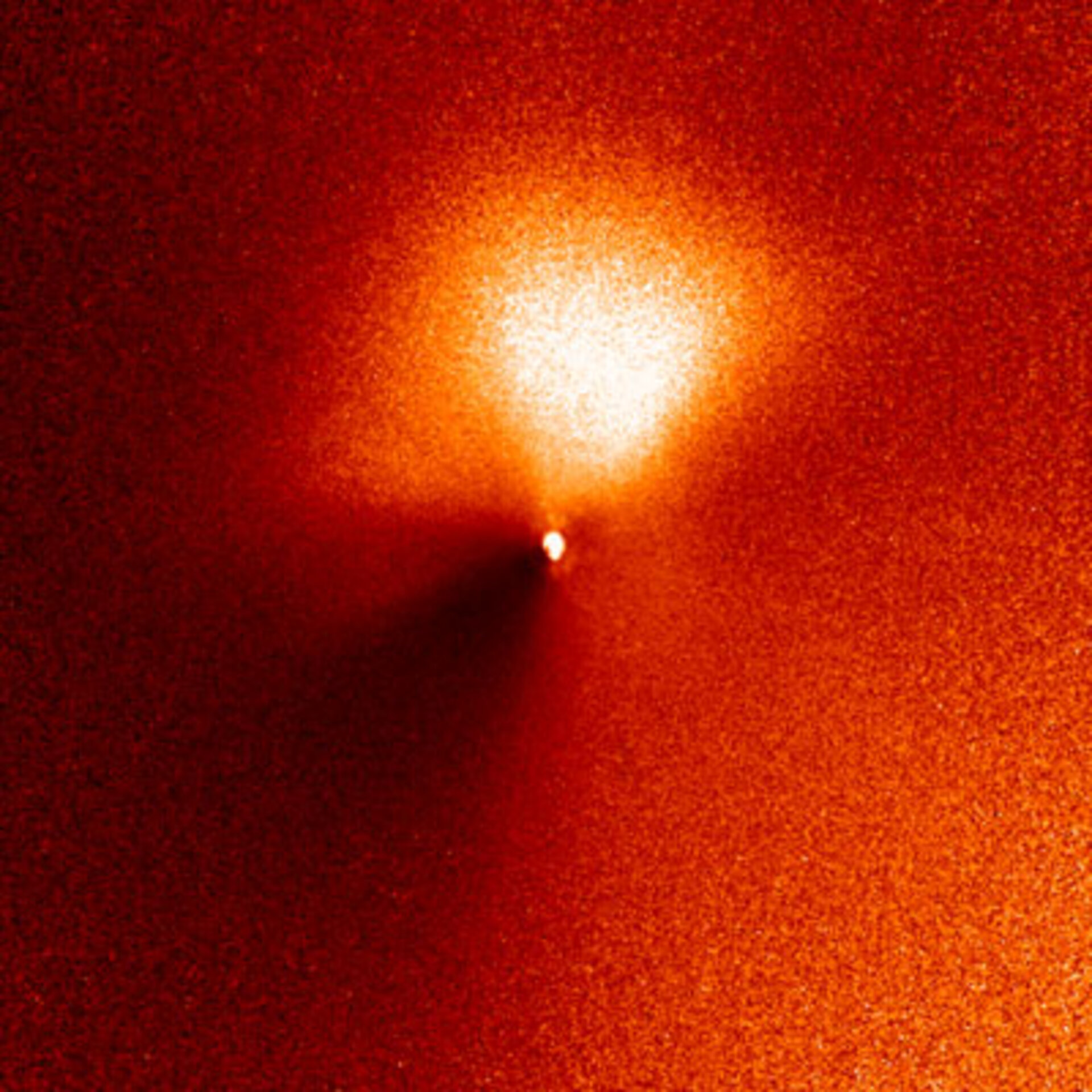 Outburst from Comet 9P/Tempel 1 as seen from Hubble