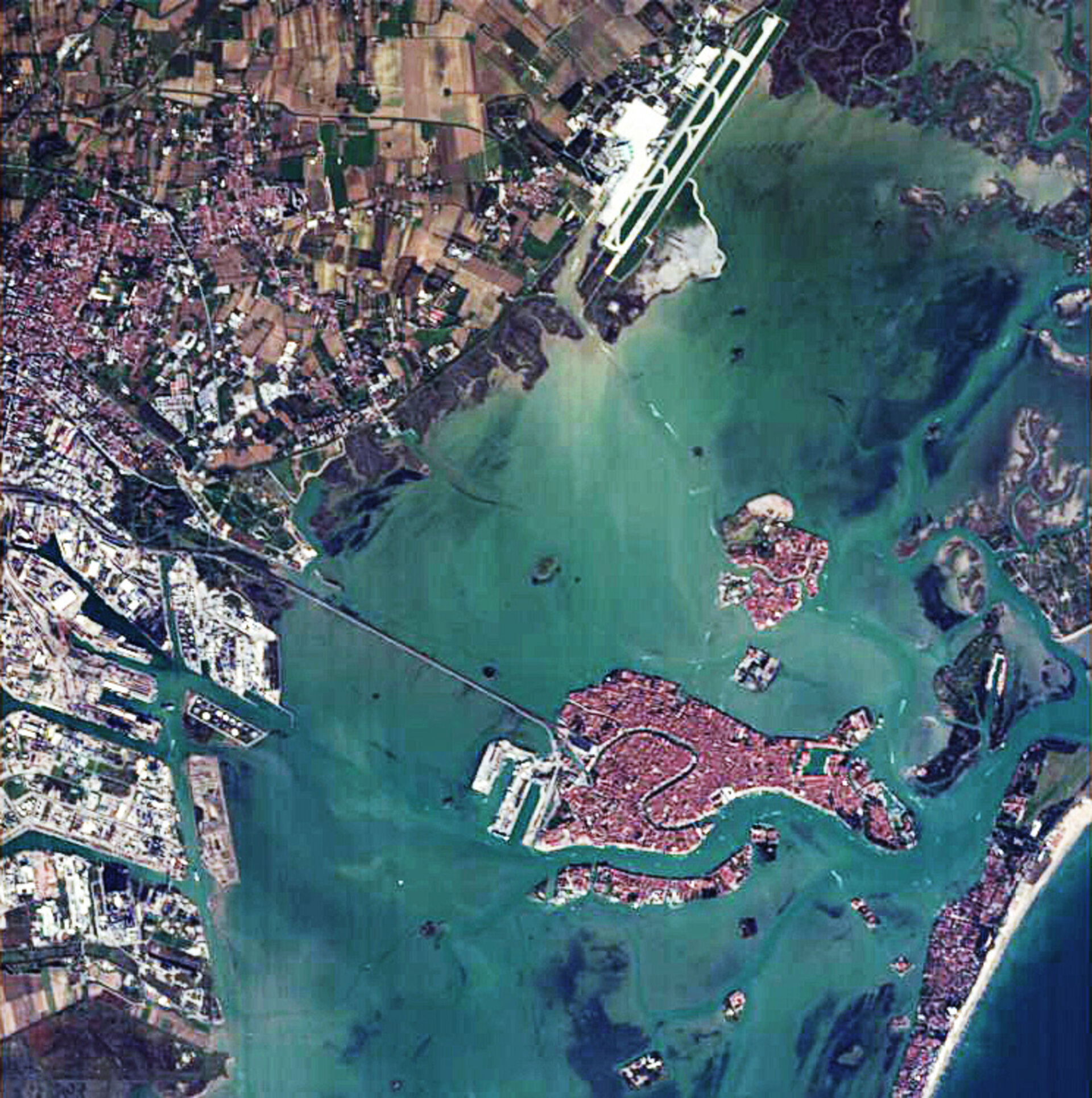 The city of Venice shown by ESA's microsatellite Proba