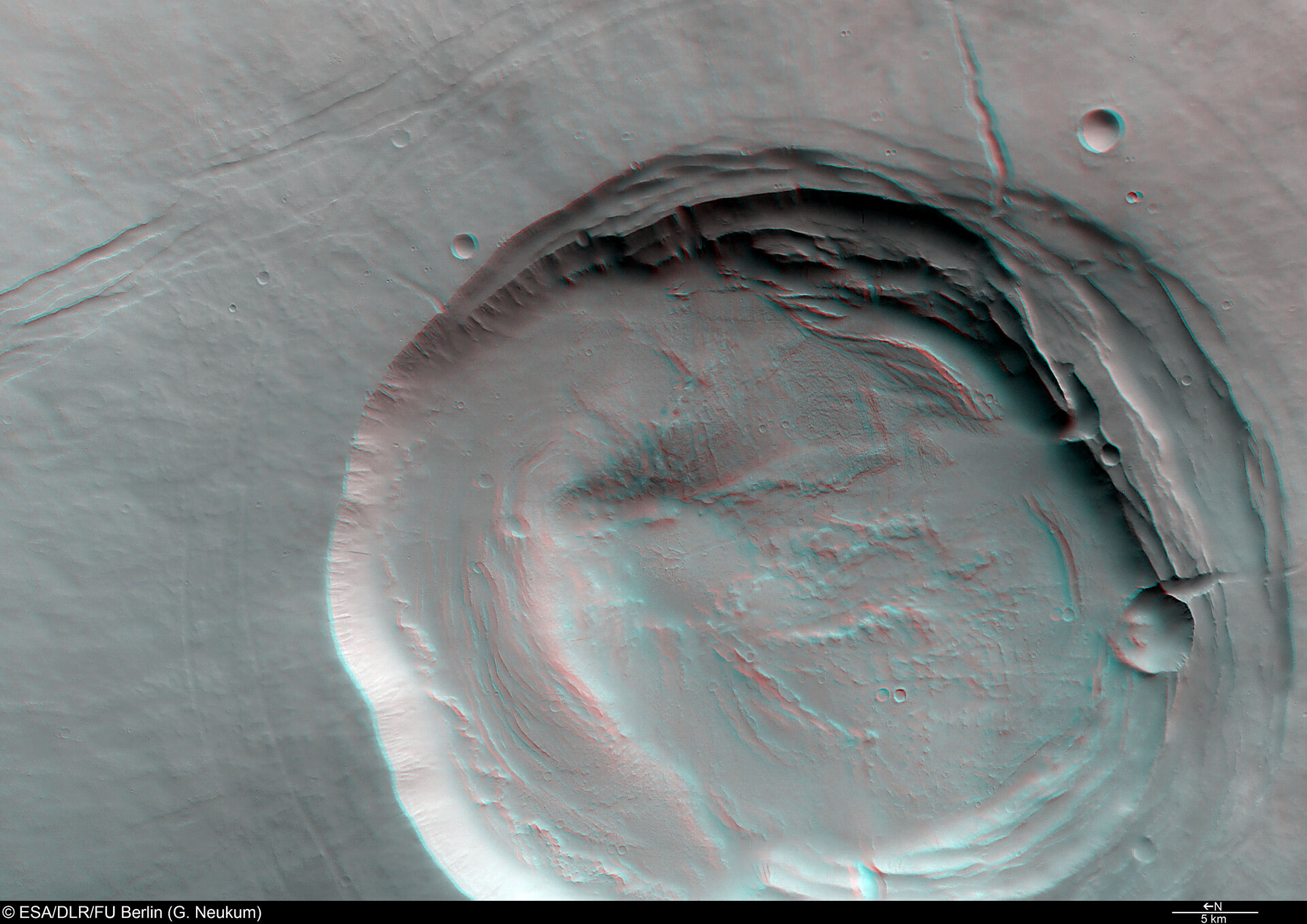 3D anaglyph view of Biblis Patera
