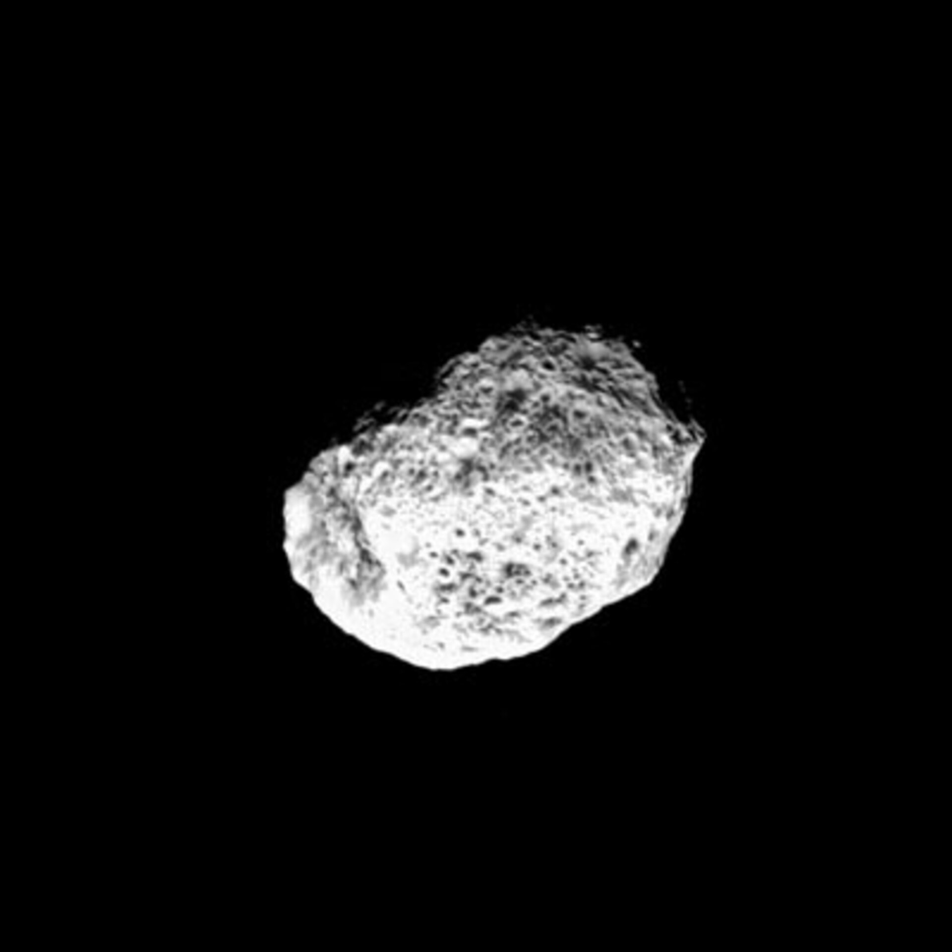 Animated sequence of Cassini fly-by of Hyperion