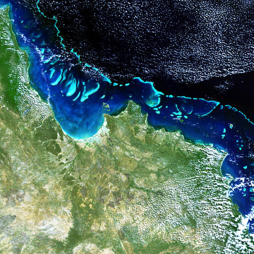 Envisat image of the Great Barrier Reef off Australia's Queensland coast