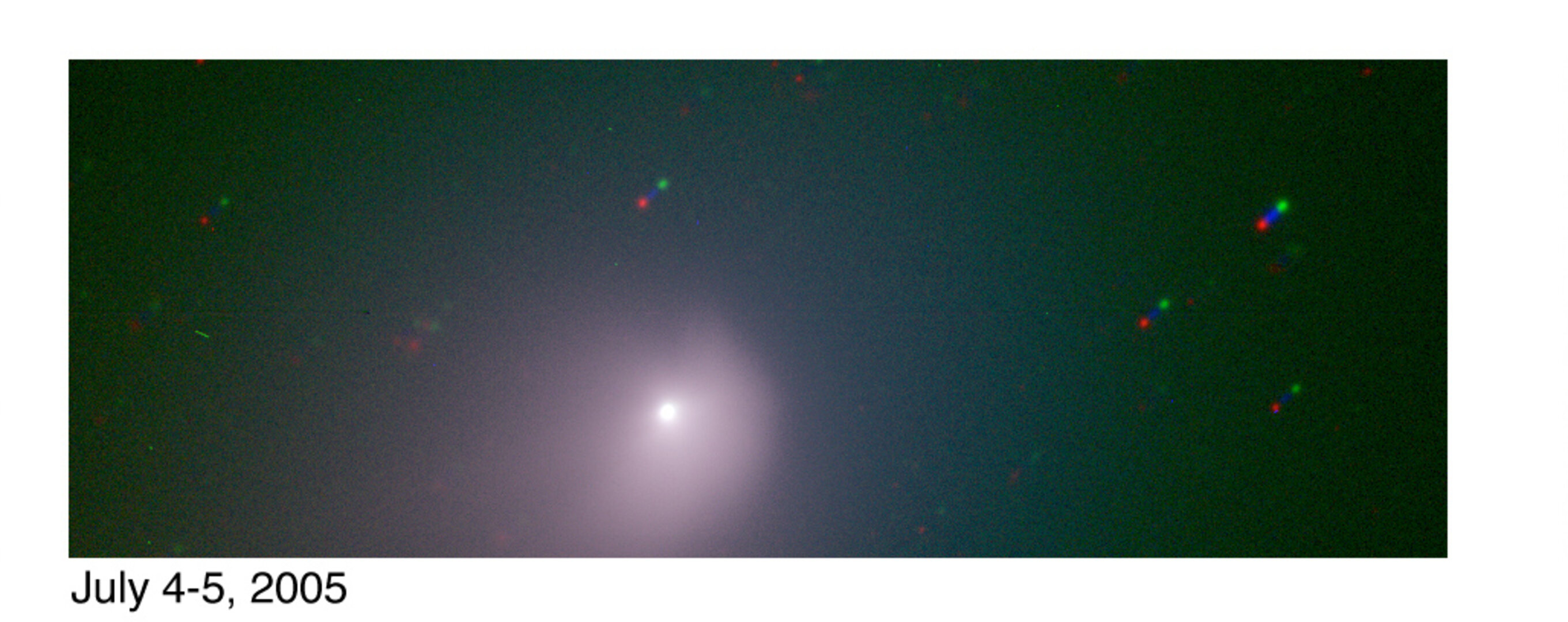 ESO FORS2  image of comet after impact