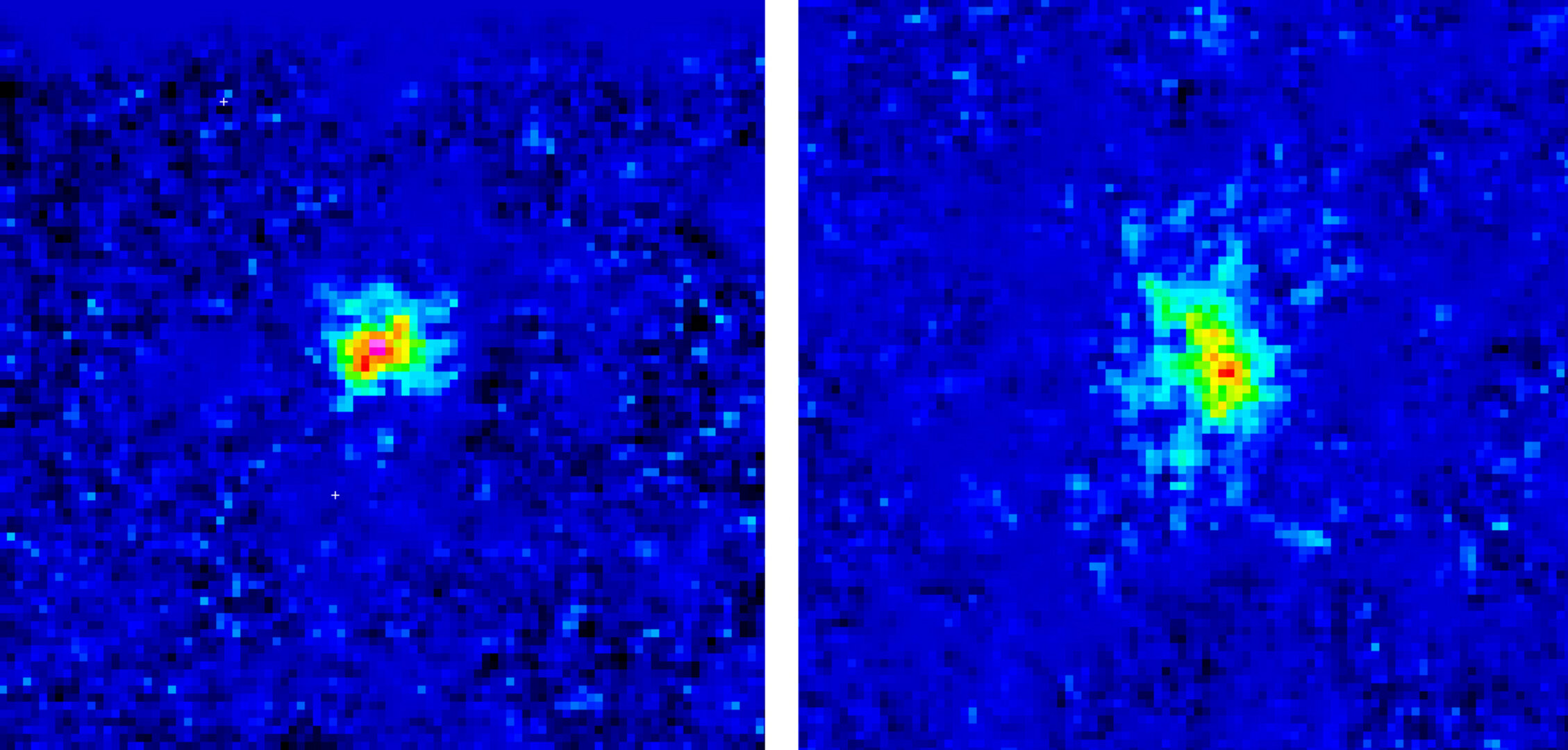 ESO TIMMI2 images of Tempel 1, before and after impact