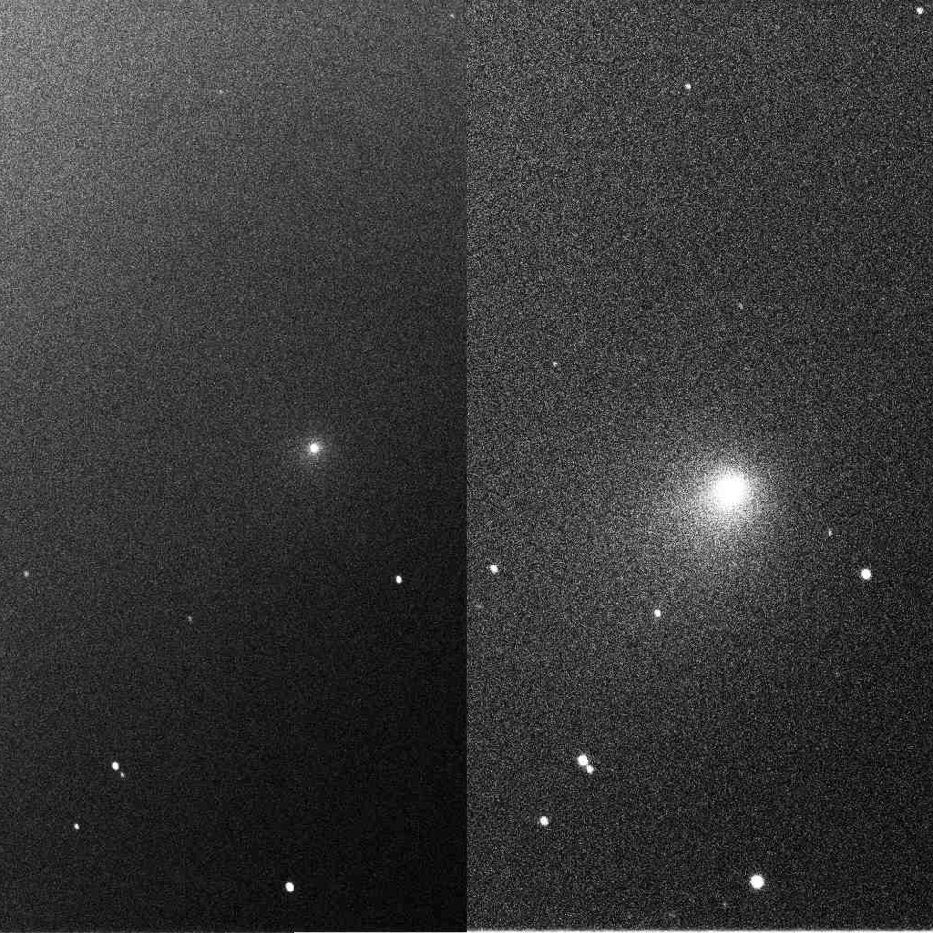 First European images of impact on Comet 9P/Tempel 1