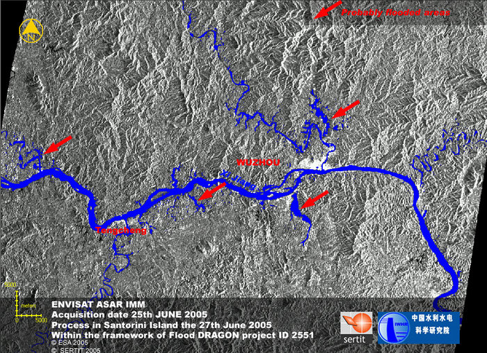 Space in Images - 2005 - 07 - Flooding of the Xi River