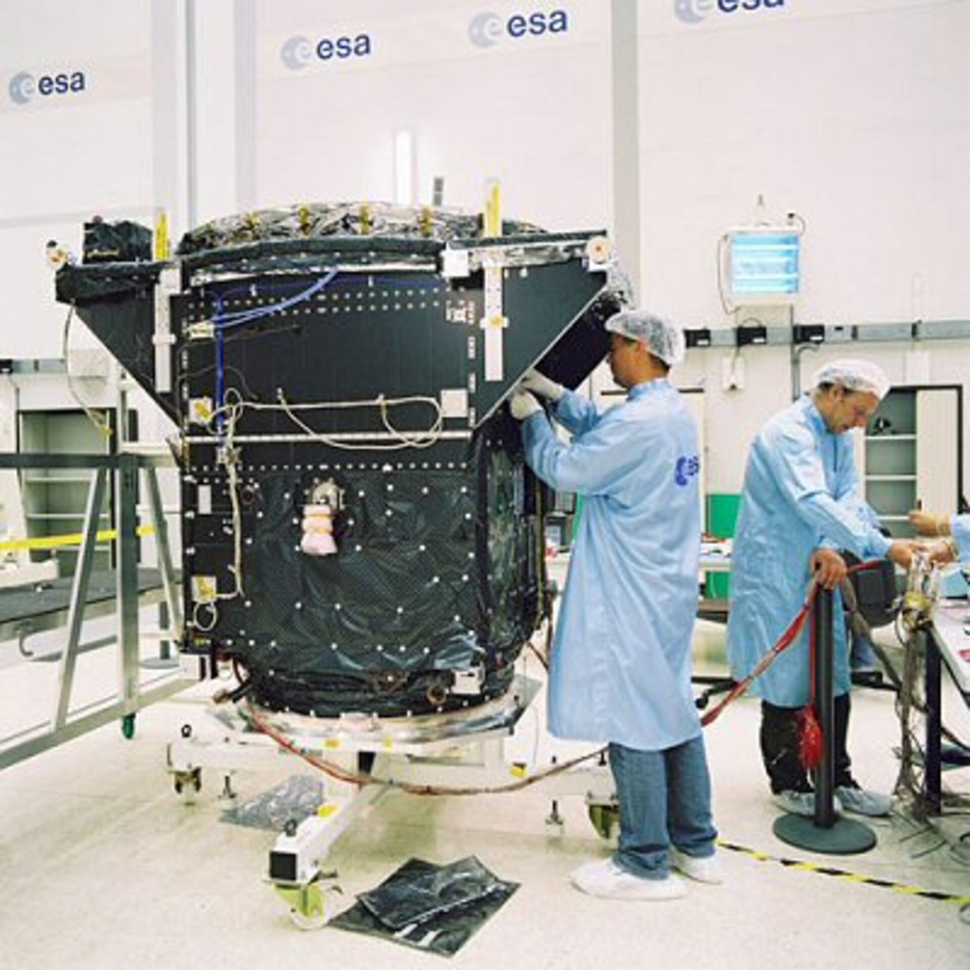 GSTB-V2/A being prepared for testing