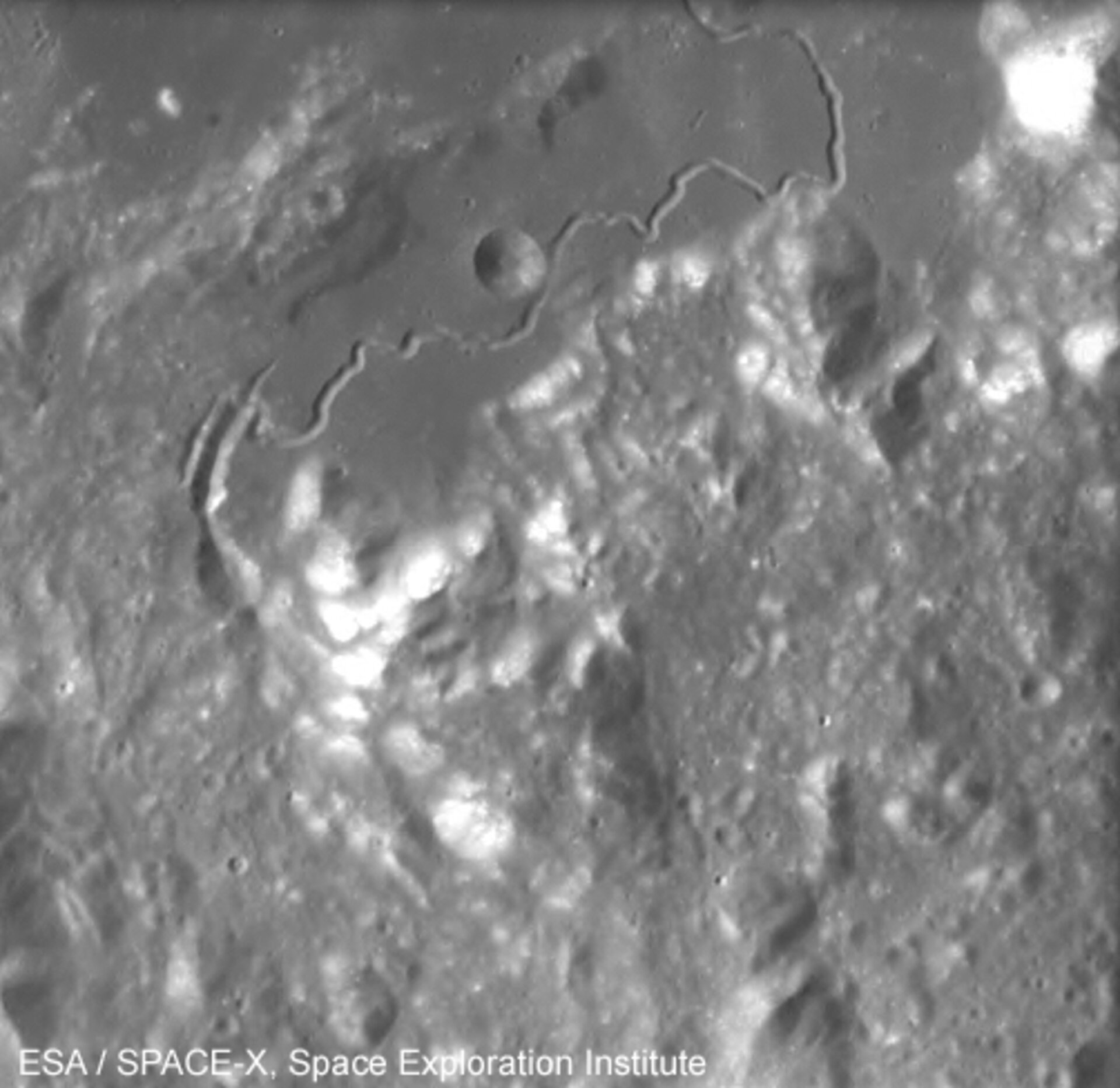 Hadley Rille on the Moon, seen by SMART-1
