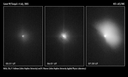 Hubble captures impact before and after