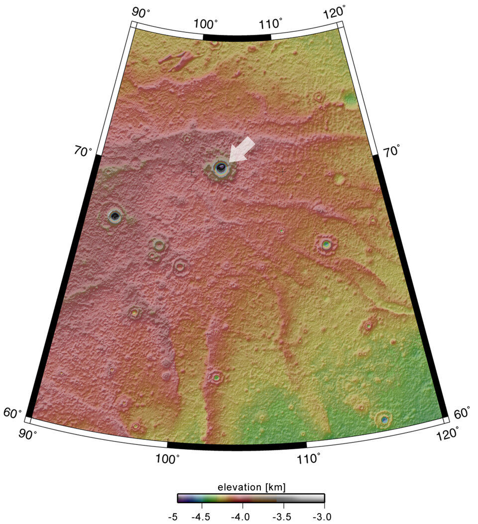 Map showing crater in context