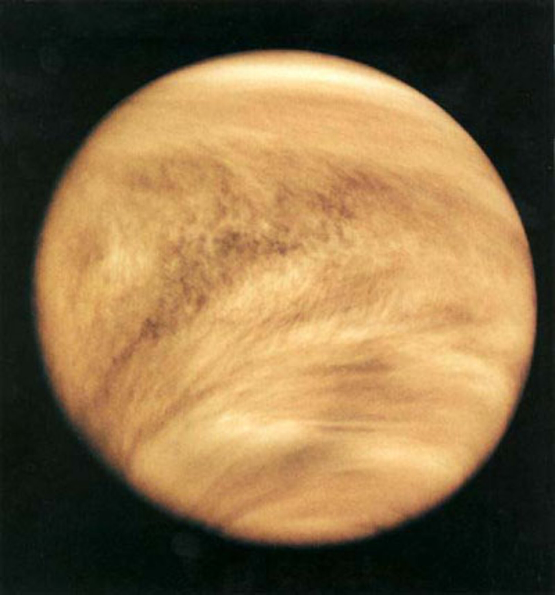 Mariner 10 image of Venus cloud tops