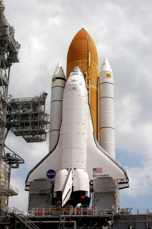 Space Shuttle Discovery at Launch Pad 39B