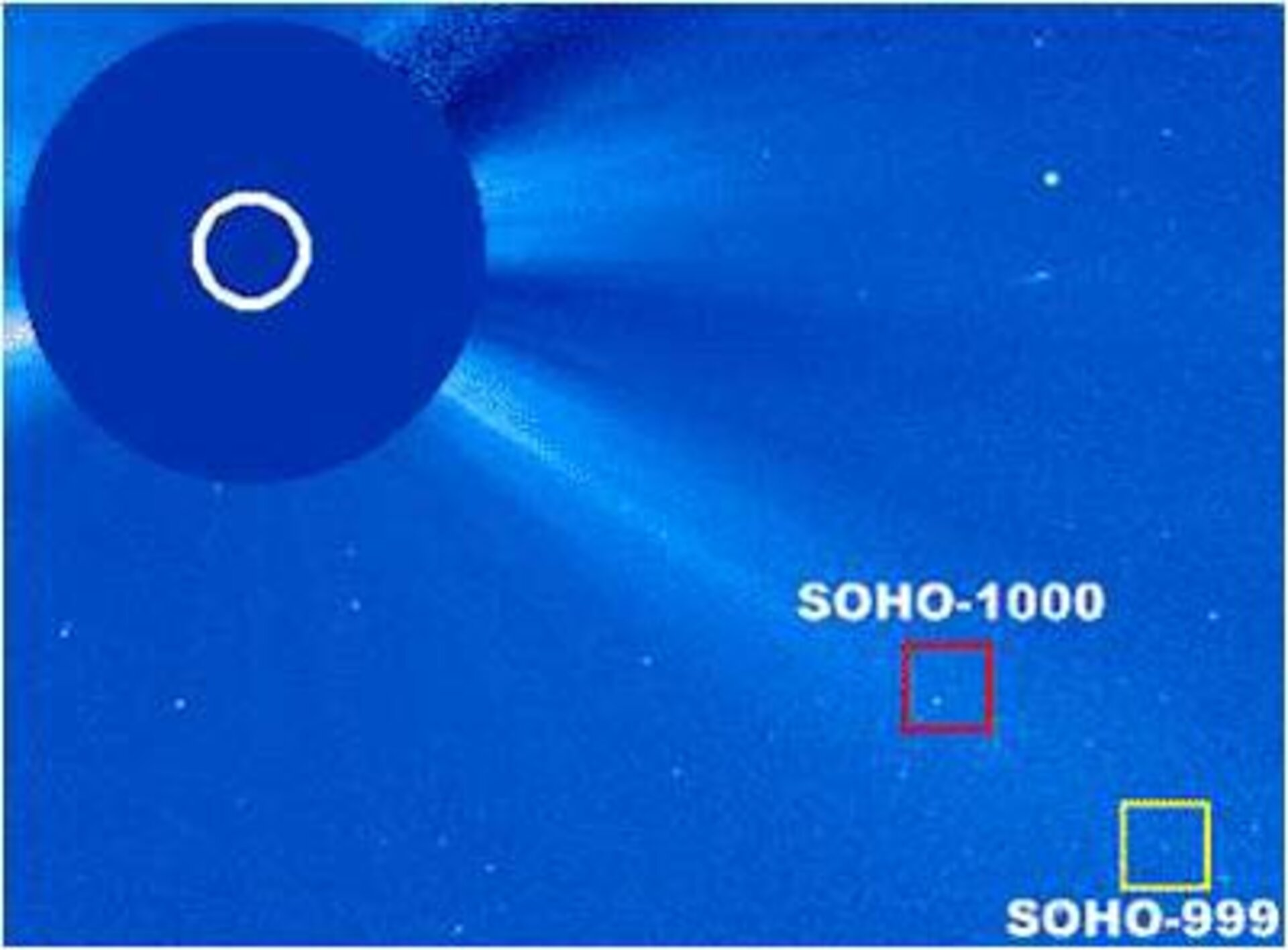 999th and 1000th comets identified in SOHO images