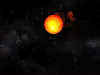 Animation of a pulsar 'eating' material from companion star