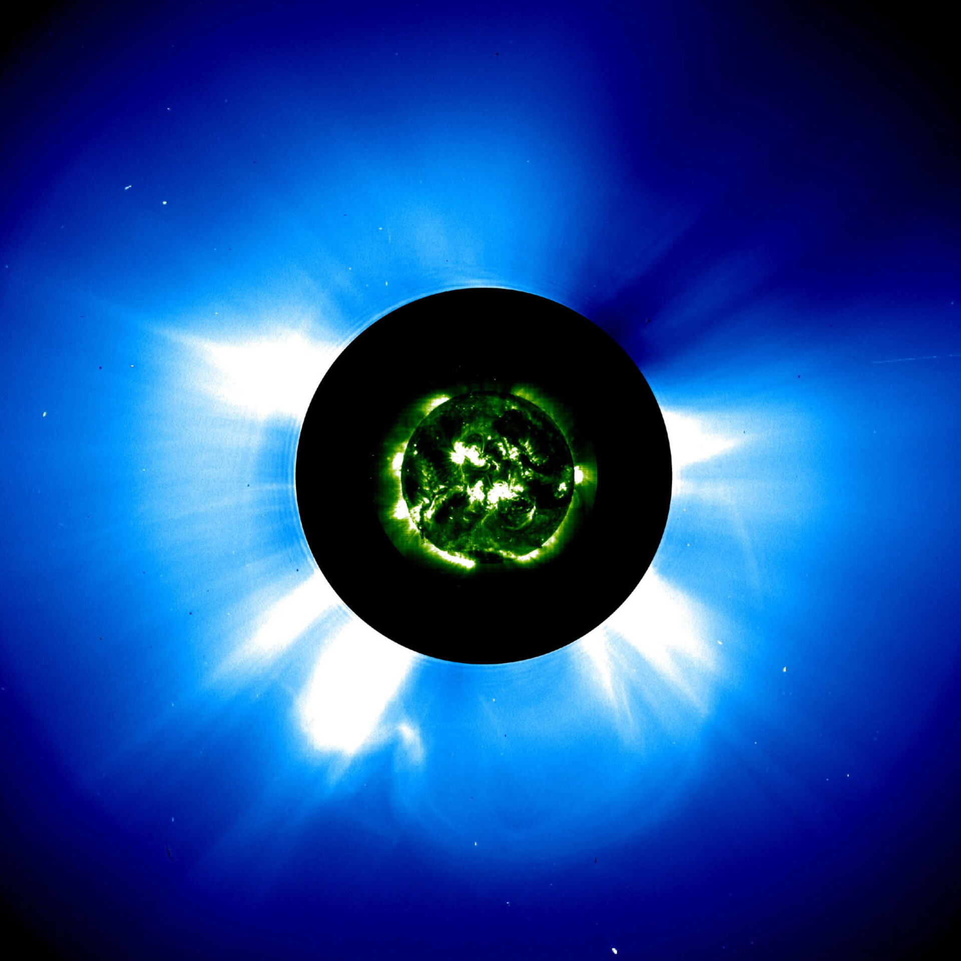 Composite image of CME from SOHO instruments