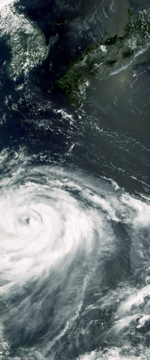 Envisat optical view of Typhoon Matsa on 4 August 2005