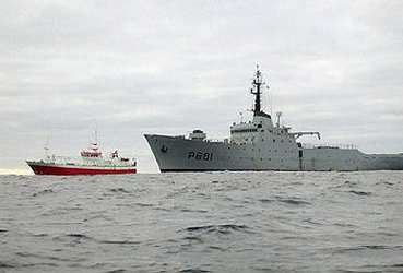 French navy intercepting illegal fishing boat