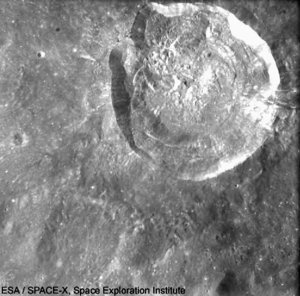 SMART-1 view  of Glushko crater