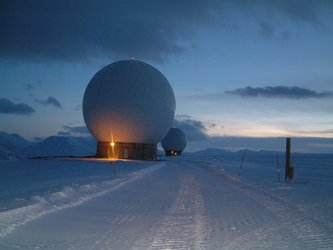 Svalsat ground station situated at 78 degrees 15 seconds north