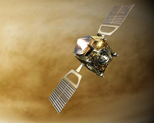 Artist's impression of Venus Express in orbit