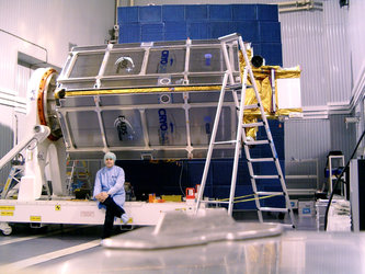Büchler in front of CryoSat
