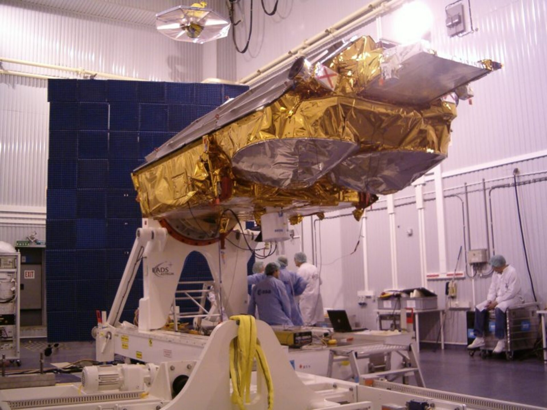 First CryoSat satellite during launch campaign