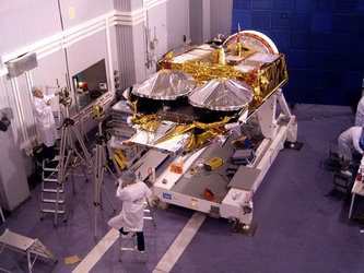 CryoSat undergoing alignment measurements