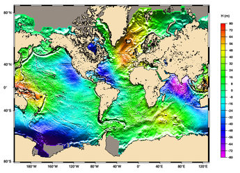 Global mean sea surface height from altimetry