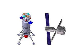 Lunar Excursion Vehicle and Hub