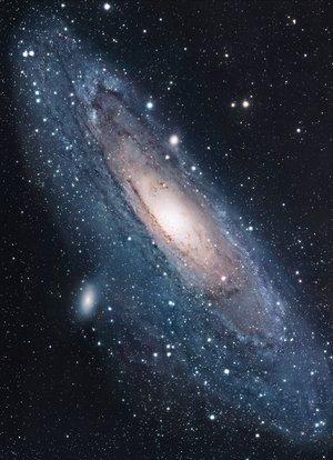 M31, site of the 'blue light' discovery