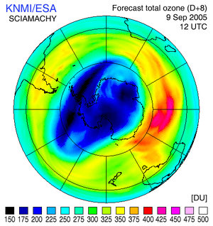 Ozone forecast for 9 September