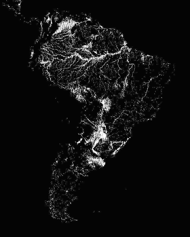 South American river and lake detection